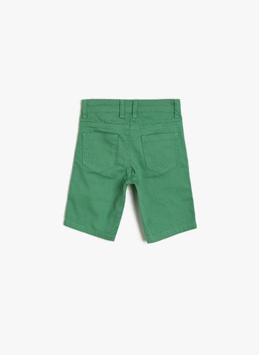 Koton Kids Cep Detayli Sort Yeşil